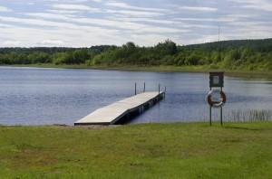 Badplatsen i Skråmträsk - Foto Emil Sandqvist